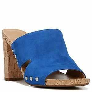 FRANCO SARTO Jeanette Women Suede Sandals Blue 10